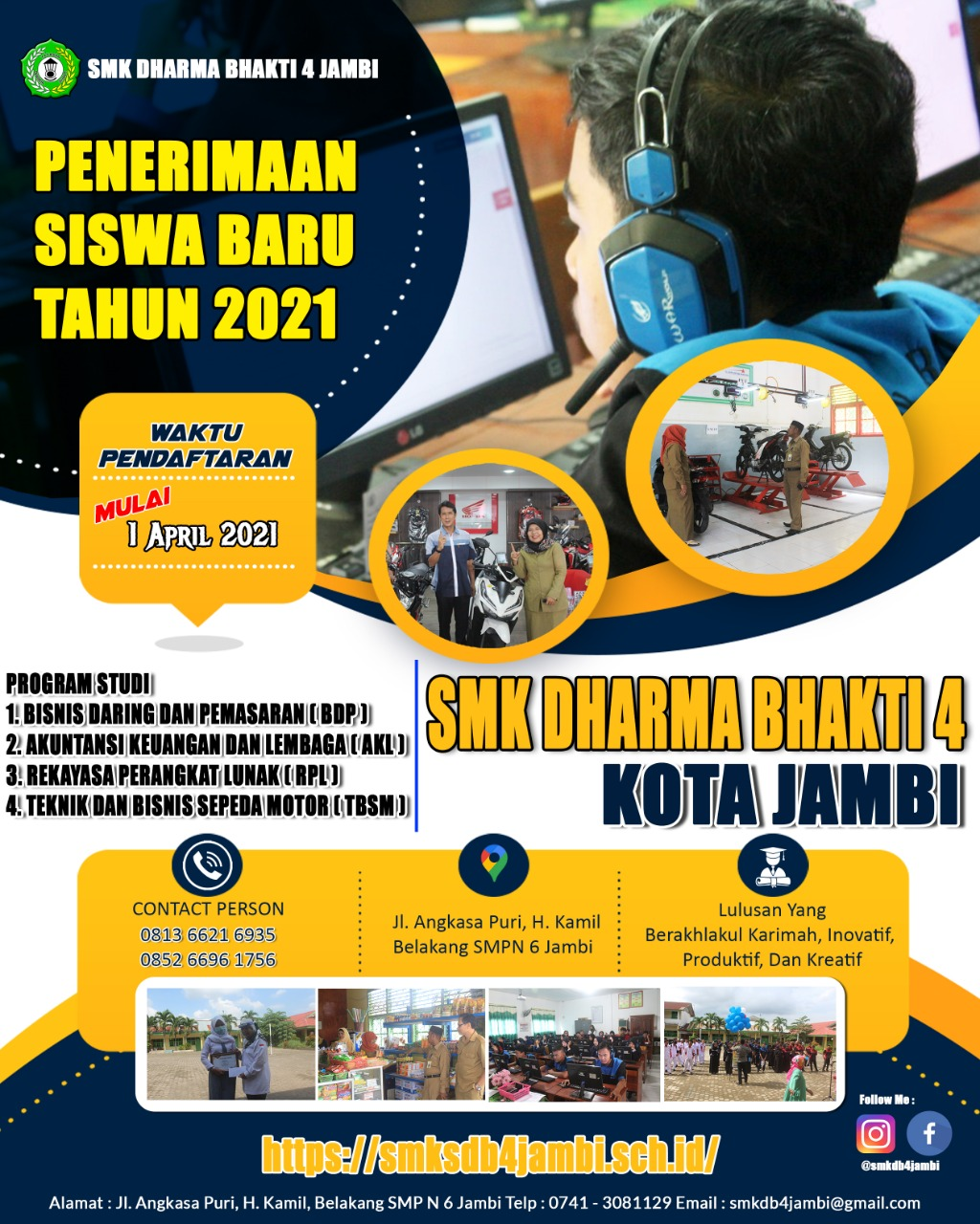 Penerimaan Peserta Didik Baru Tahun Ajaran 2021/2022